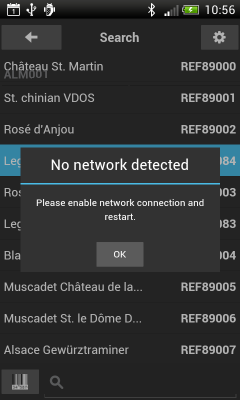No network detected